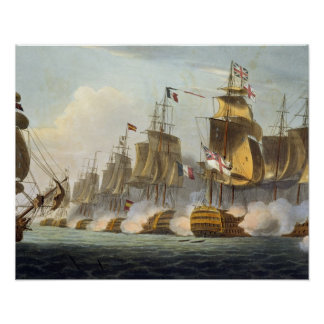 Battle of Trafalgar, October 21st 1805, from 'The Poster