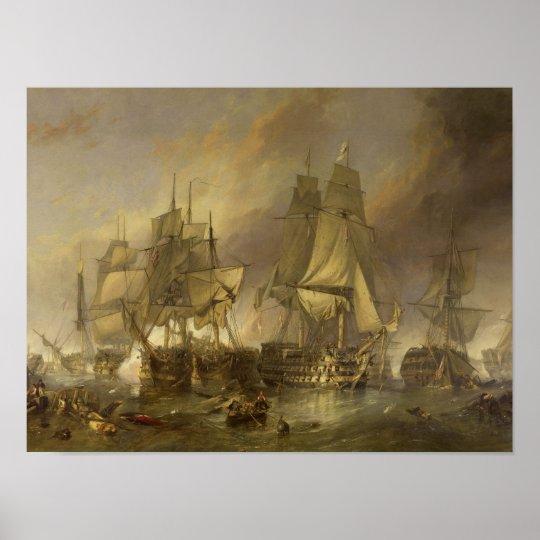 Battle of Trafalgar Poster W C Stanfield 1836