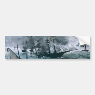 Battle of USS Kearsarge and CSS Alabama by Manet Bumper Stickers