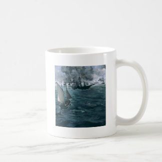 Battle of USS Kearsarge and CSS Alabama by Manet Coffee Mug