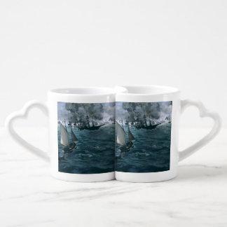 Battle of USS Kearsarge and CSS Alabama by Manet Lovers Mug Set