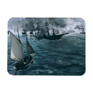 Battle of USS Kearsarge and CSS Alabama by Manet Rectangular Photo Magnet