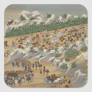 Battle of Vasilika in 1821, from the Pictorial His Square Sticker
