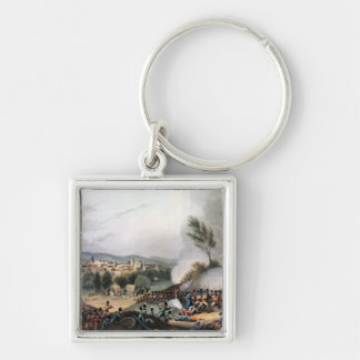 Battle of Vittoria,etched by I. Clark Silver-Colored Square Key Ring