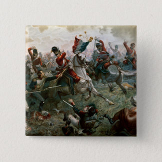 Battle of Waterloo, 18th June 1815, 1898 (colour l 15 Cm Square Badge