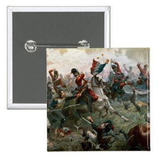 Battle of Waterloo, 18th June 1815, 1898 (colour l Pinback Button