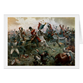Battle of Waterloo, 18th June 1815, 1898 (colour l Card