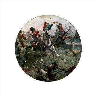 Battle of Waterloo, 18th June 1815, 1898 (colour l Wallclock
