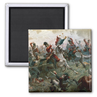 Battle of Waterloo, 18th June 1815, 1898 (colour l Magnet