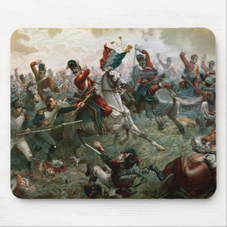 Battle of Waterloo, 18th June 1815, 1898 (colour l Mouse Mat