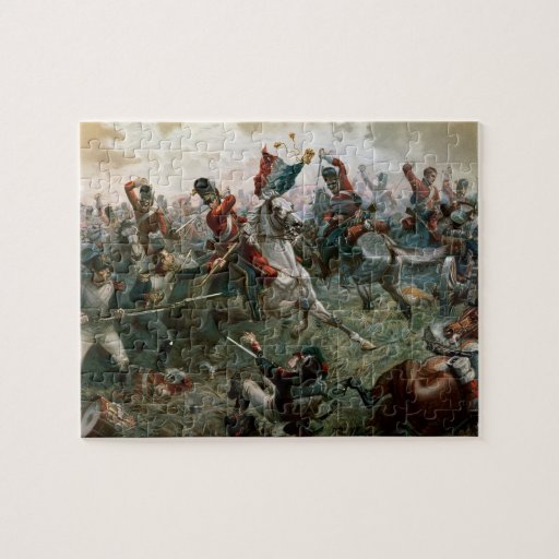 Battle Of Waterloo 18th June 1815 1898 Colour L Jigsaw