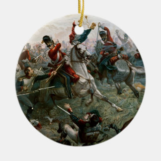 Battle of Waterloo, 18th June 1815, 1898 (colour l Round Ceramic Decoration