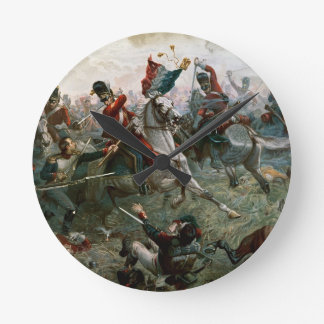 Battle of Waterloo, 18th June 1815, 1898 (colour l Round Clock