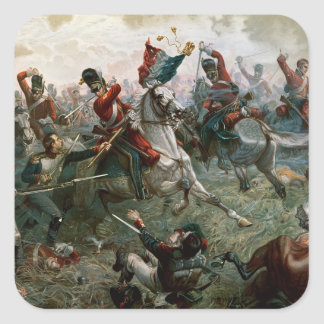 Battle of Waterloo, 18th June 1815, 1898 (colour l Square Sticker