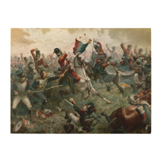 Battle of Waterloo, 18th June 1815, 1898 (colour l Wood Canvases