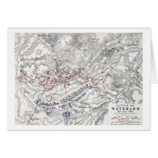 Battle of Waterloo, 18th June 1815, Sheet 1st (eng Card