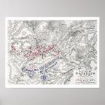 Battle of Waterloo, 18th June 1815, Sheet 1st (eng Poster