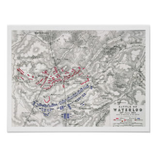 Battle of Waterloo, 18th June 1815, Sheet 1st (eng Poster