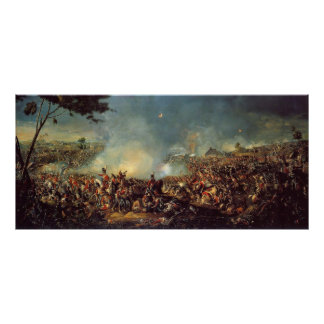 Battle of Waterloo by William Sadler Poster