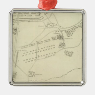 Battle of Waterloo in Belgium Silver-Colored Square Decoration