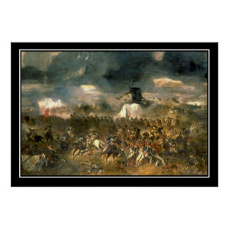 Battle of Waterloo Vintage Poster