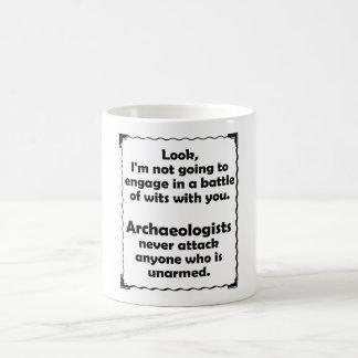 Battle of Wits Archaeologists Basic White Mug