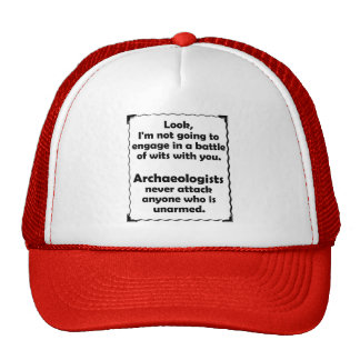 Battle of Wits Archaeologists Trucker Hats