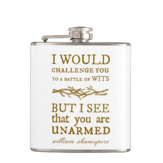 Battle of Wits Challenge Hip Flasks