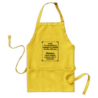 Battle of Wits Cleaner Standard Apron