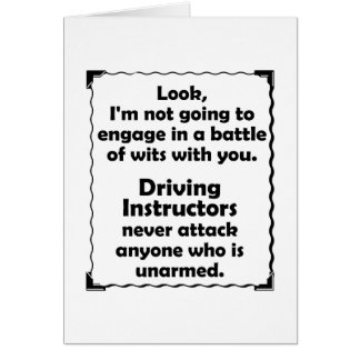 Battle of Wits Driving Instructor Cards