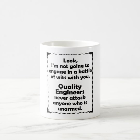 Battle of Wits Quality Engineer Coffee Mug