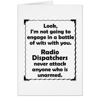 Battle of Wits Radio Dispatcher Note Card