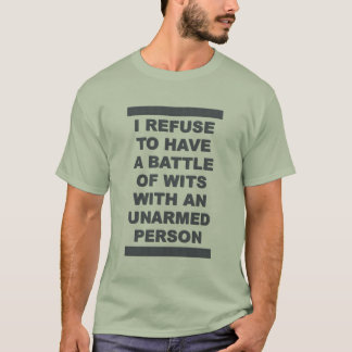 Battle of Wits shirt - choose color & style