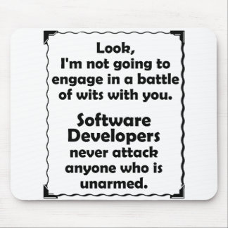 Battle of Wits Software Developer Mouse Pad