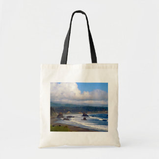 Battle Rock City Beach, Port Orford, Oregon, USA Budget Tote Bag