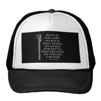 Battle Rosary in white Mesh Hat