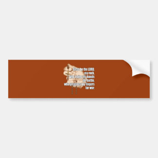 Battle Rosary White Text Bumper Stickers