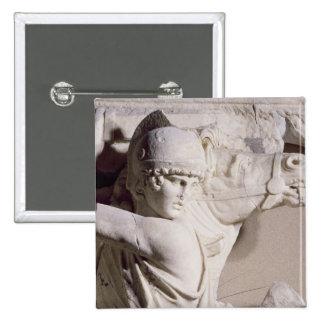 Battle scene, c.169 15 cm square badge