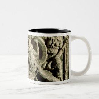 Battle scene from a cinerary urn, Etruscan Mugs