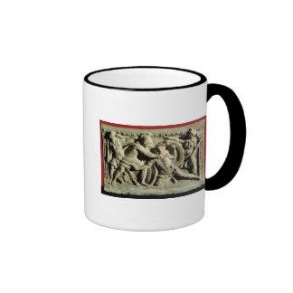 Battle scene from a cinerary urn, Etruscan Coffee Mug