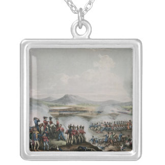 Battle Talavera, engraved by Thomas Sutherland Silver Plated Necklace