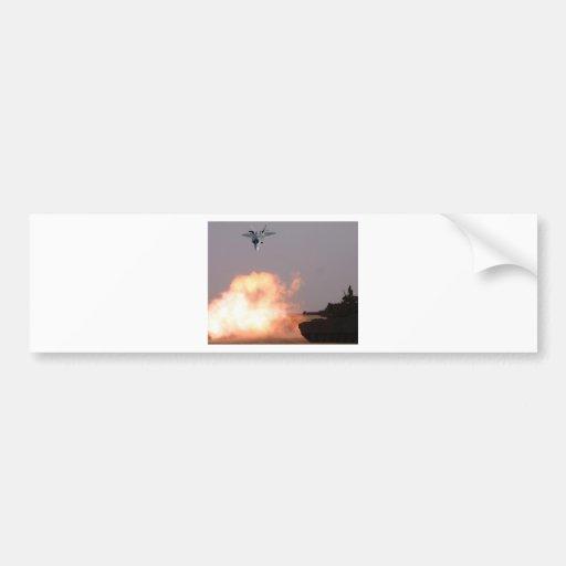 BATTLE TANK & JET FIGHTER BUMPER STICKER