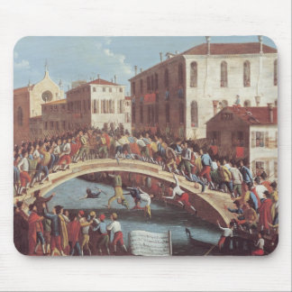 Battle with Sticks on the Ponte Santa Fosca Mouse Mat
