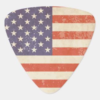 Battle Worn American Flag Guitar Pick