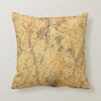 Battlefield of Gettysburg Map by John Bachelder Cushion