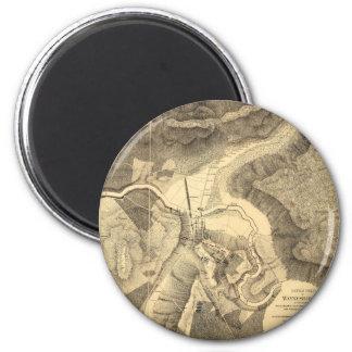 Battlefield of Waynesboro, Virginia March 2nd 1865 6 Cm Round Magnet
