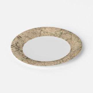 Battlefields and Roman roads Paper Plate