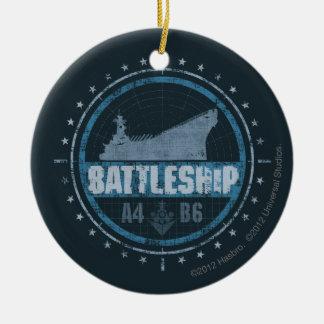 Battleship A4 B6 Christmas Ornament
