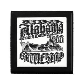 Battleship Alabama Wooden Jewelry Keepsake Box