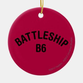 Battleship B6 Logo Christmas Ornament